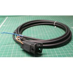 Junion timer valve straight LED cable PUR 2x0.75 black 3M