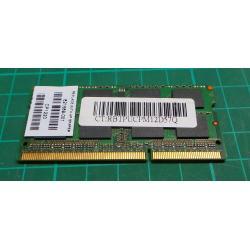 USED, sodimm, 4GB, DDR3-1600, PC3-12800