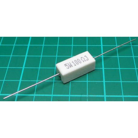 Resistor, 100R, 5%, 5W