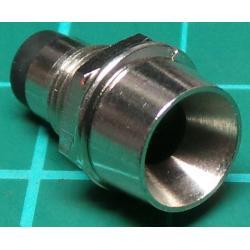 LED Bezel, Holder, 5mm, Chrome plated Brass