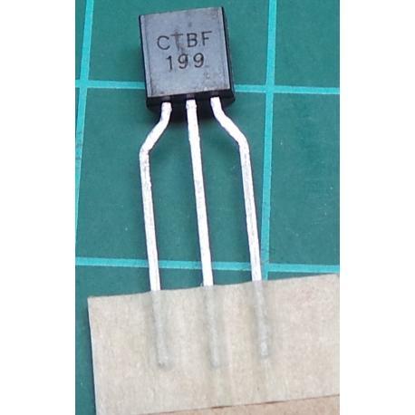 BF199, NPN Transistor, 25V, 25mA, 0.5W