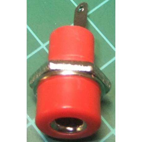 Banana Socket, 4mm, Red