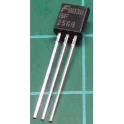 BF256B, N Channel FET, 30V, 0.013A, 0.3W