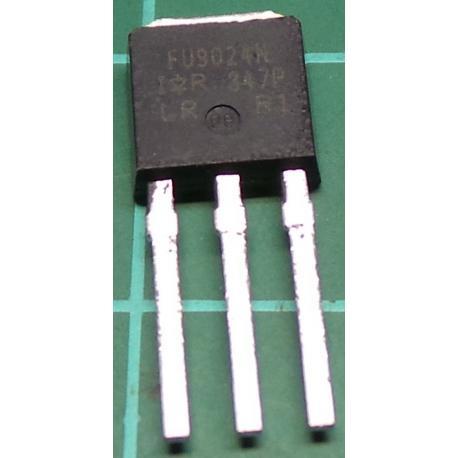 IRFU9024NPBF, P Channel FET, 55V, 11A, 38W