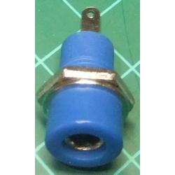 Banana Socket, 4mm, Blue