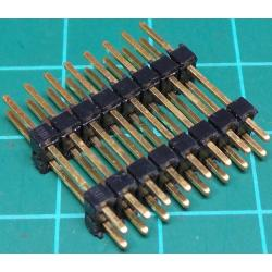 16 Pin DIL Header, Male, 2.54mm Pitch, Long Pins