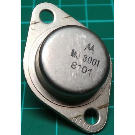 MJ3001, NPN Darlington Transistor, 80V, 10A, 150W