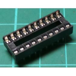 IC DIL Socket, 20 Pin, Stamped Contacts