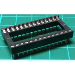 IC DIL Socket, 28 Pin Wide, Stamped Contacts