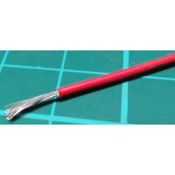 22AWG, 0.5mm2, Stranded, Polyalkene, 150deg, Red