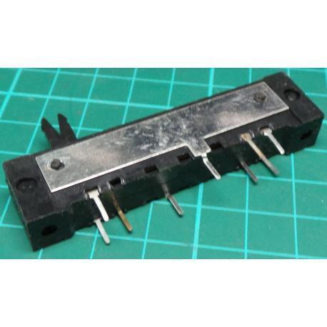 Slider, 2 x 1M, Lin, 68x12x16mm, Old Stock