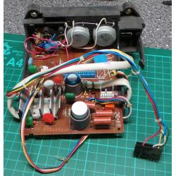 PCB with components - Audio Amplifier