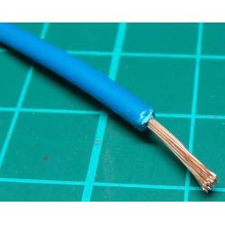 20AWG, 0.75mm2, Stranded, PVC, 105deg, Blue