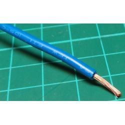 18AWG, 1mm2, Stranded, PVC, 105deg, Blue