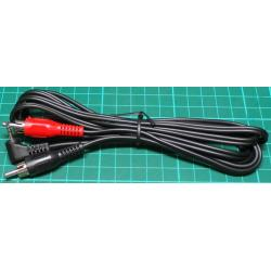 2.5mm Stereo Jack to 2xRCA, 2m