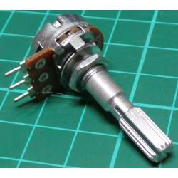 Potentiometer,25K, Lin, THT, 6x30mm Shaft