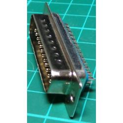 D Type, 25 Pin, Male, Solder Bucket