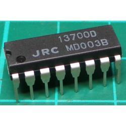 NJM13700D (LM13700), Dual Operational Transconductance Amplifiers