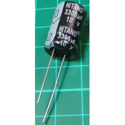 Capacitor, 3300uF, 10V, Electrolytic