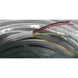 Cable, 4 Core, 28AWG, 0.08mm2, Stranded, PVC, 70deg, White