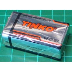 Battery, 9V, 6F22 / 1604D / PP3 Date Dec 2018