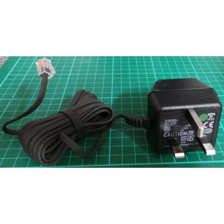 PSU, 9V AC, 240mA, UK Plug