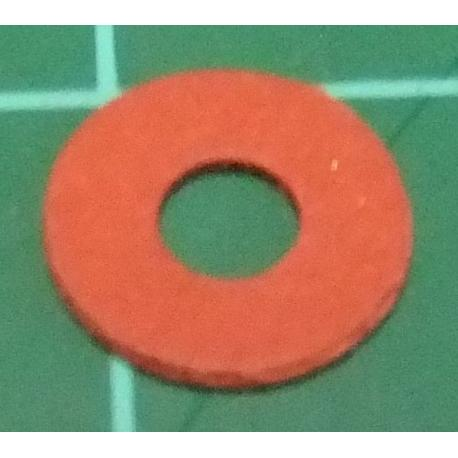 M3 Washer, Fibre, Red