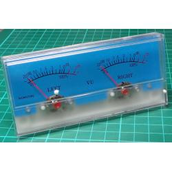 Panel Meter, Analogue, VU (-20 to 3db), 40x40mm