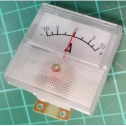 Panel Meter, Analogue, -10A to +10A, 40x40mm