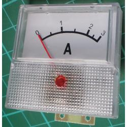 Panel Meter, Analogue, 0-3A, 40x40mm