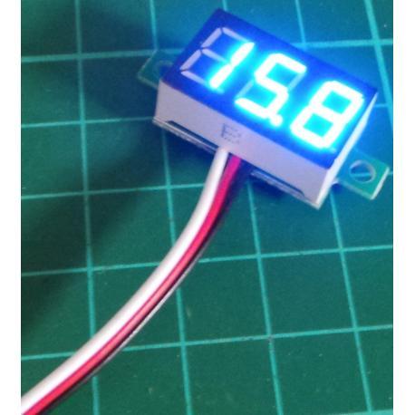 Panel Meter, Digital , 0-32V, Blue