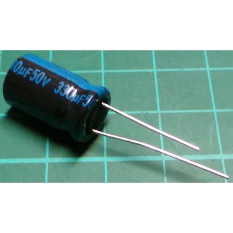 Capacitor, 330uF, 50V, Electrolytic