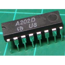 A202D, Record amplifier with integrated ALC function for use as microfone or playback pre-amplifier in tape decks.