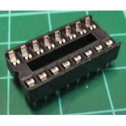 IC DIL Socket, 16 Pin, Stamped Contacts