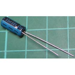 Capacitor, 33uF, 50V, Radial, Electrolitic
