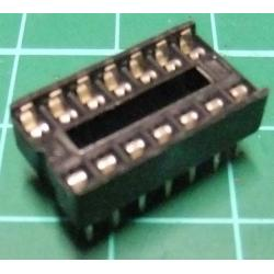 IC DIL Socket, 14 Pin, Stamped Contacts