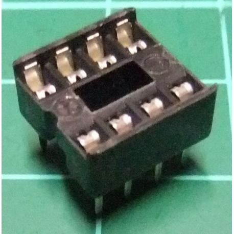 IC DIL Socket, 8 Pin, Stamped Contacts