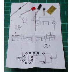 Yellow LED Indicator for 220V Mains