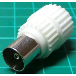 TV Antenna Connector, Plug, for Cable, Plastic body