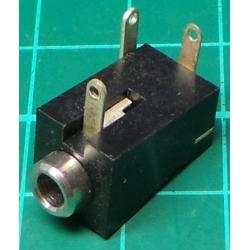 3.5mm mono jack socket, with switch