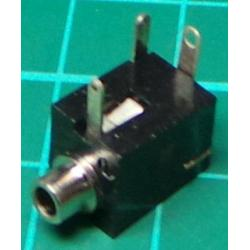 2.5mm mono jack socket, with switch
