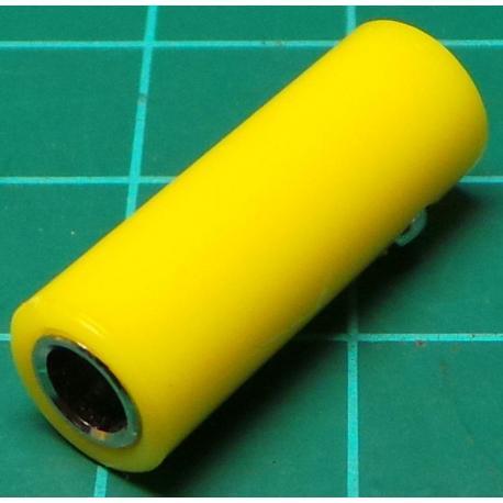 Banana Socket, 4mm, In Line, Yellow