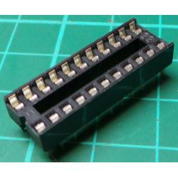 IC DIL Socket, 22 Pin, Stamped Contacts