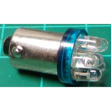 LED Bulb, for Ba9S Socket, 12V, 0.5W, Blue, For Car