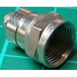 F Type connector 6mm Crimp type (for RG59 etc)