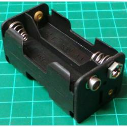 Battery Holder, 4 x AA / R6 / UM3, Clip Connector
