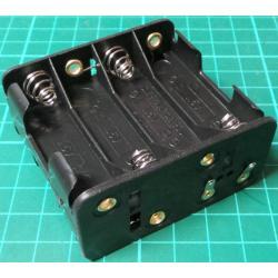 Battery Holder, 8 x AA / R6 / UM3, Solder Tags