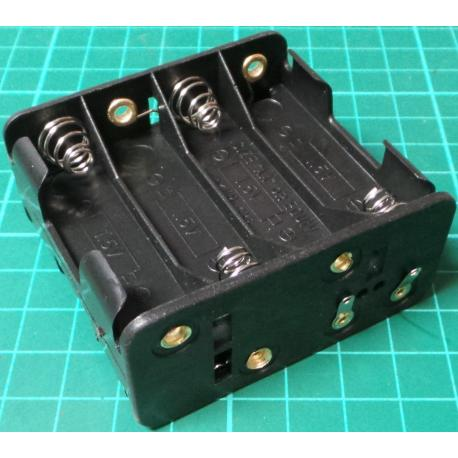 Battery Holder, 6 x AA / R6 / UM3, Solder Tags