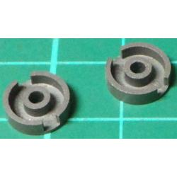 Cup Ferrite Core, 9.5mm outer, 8mm inner, 4mm inner, 2mm hole, 4mm height (2pcs)
