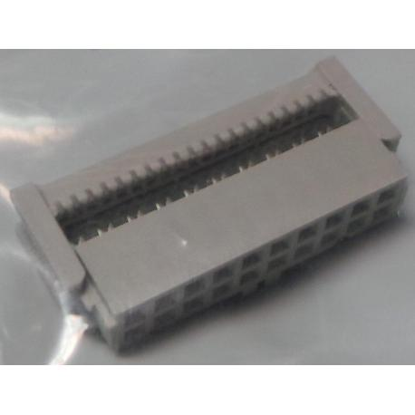 20 Pin DIL IDC Female Connector, for Ribbon Cable